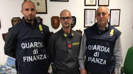 I militari della Compagnia della Gaurdia di finanza di Civitanova