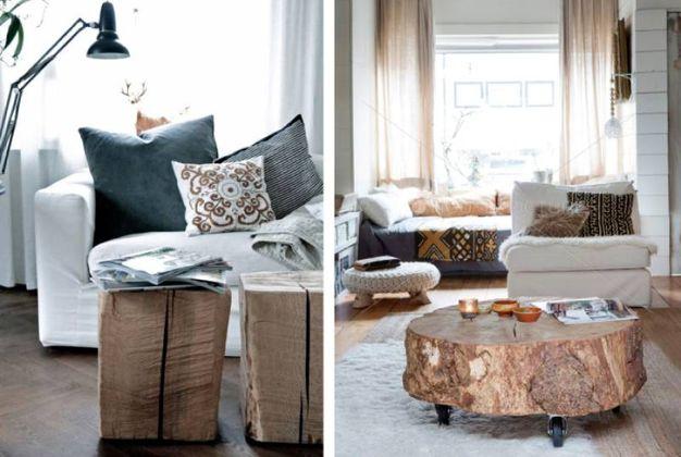 Ceppi e tronchi di legno per arredare casa magazine for Tronchi per arredamento