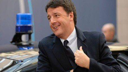 Renzi al summit Ue (Afp)