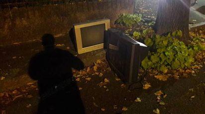 La tv abbandonata