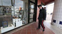 I carabinieri di fronte al negozio (Gianni Nucci / Germogli)