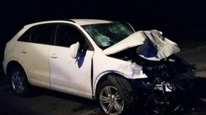 L'Audi coinvolta nella collisione
