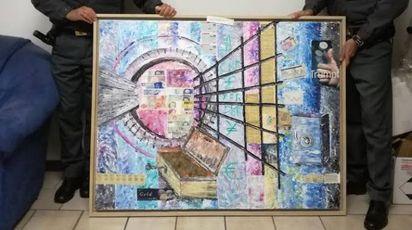 Uno dei dipinti sequestrati