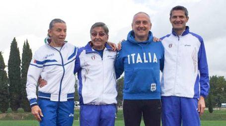 Atletica Pistoia: Gariboldi, Marchioni, Natali e Bianchi