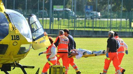 Uno dei feriti è stato trasportato in elicottero  all'ospedale Bufalini di Cesena
