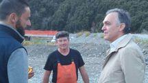 A inizio mese Enrico Rossi era a Stadano di Aulla a vedere il nuovo ponte