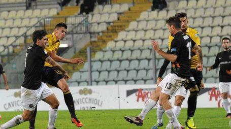 La conclusione di Bajner che ha portato in vantaggio il Modena la 28'