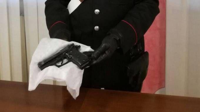 La pistola usata per la rapina