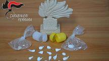 Le confezioni di droga