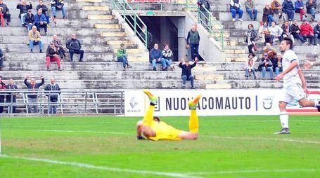 Lucchese-Prato, il vantaggio rossonero (LaPresse)