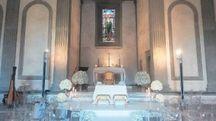 La Cappella de' Pazzi addobbata per il matrimonio di Fuksas