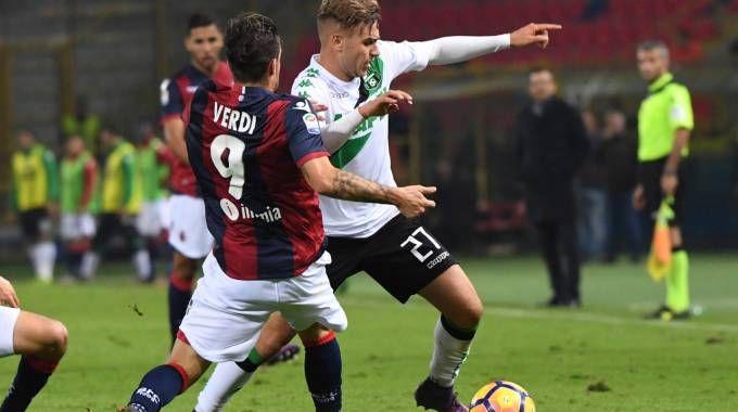 Verdi e Ricci in Bologna-Sassuolo (foto Schicchi)