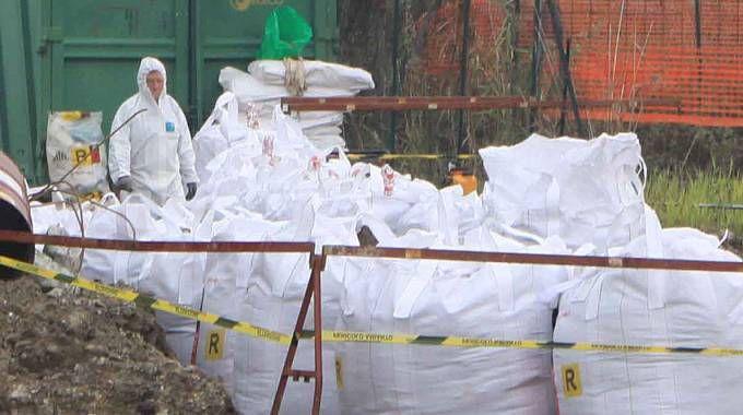 I sacchi raccolti nel cantiere