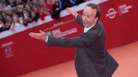 Roberto Benigni alla Festa del Cinema di Roma (Olycom)