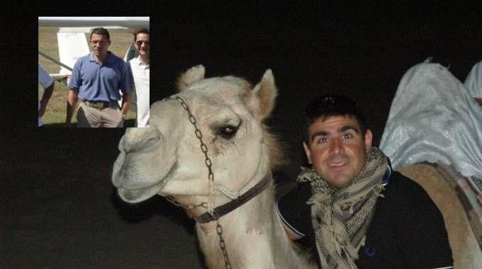 Le due vittime: Stefano Romito, ufficiale dell'aeronautica. Nel riquadro Rodolfo Mandò