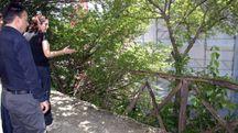 La staccionata che ha ceduto facendo cadere Edouard Egarov Capponi