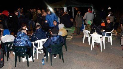 Le barricate di residenti a Gorino (Businesspress)c