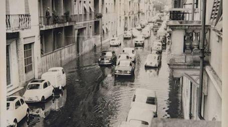 Alluvione del '66: l'acqua dell'Arno fino a via Vespucci