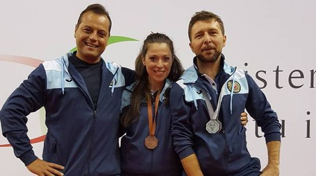 Da sinistra Pace (coach Italia), Fortuna e Tanturli