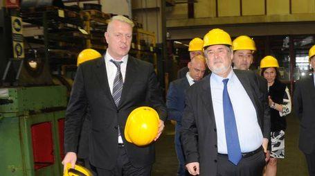 Alberto Presezzi della Franco Tosi a colloquio con il ministro Giuliano Poletti