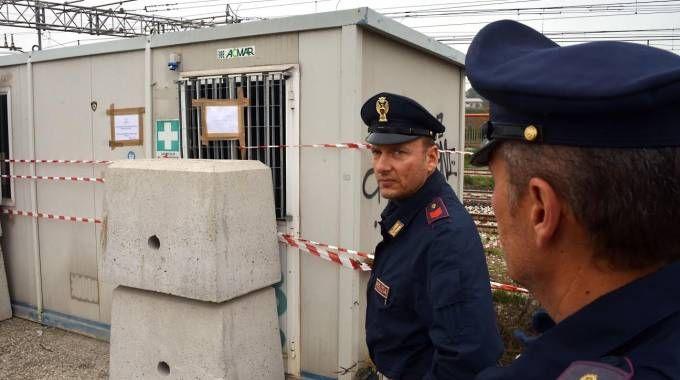 Il container nel quale è stato trovato il corpo mummificato