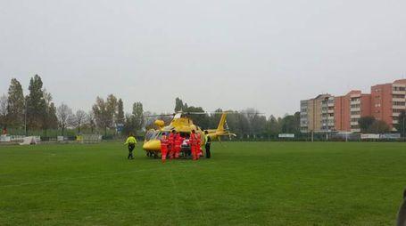 L'ambulanza intervenuta