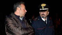 A sinistra, il sindaco di Goro Diego Viviani (foto Businesspress)