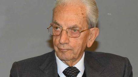 Il presidente dell'Anpi, Carlo Smuraglia, ieri a Reggio
