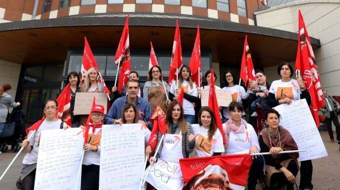 La protesta ai Gigli (foto Andi Shtylla/Germogli)