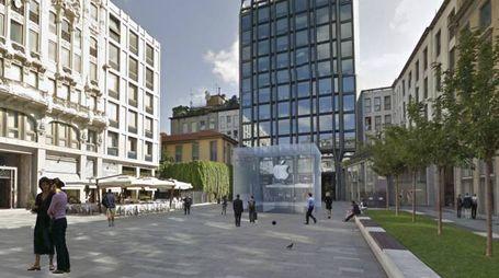Piazzetta Liberty, il rendering del nuovo Apple Store
