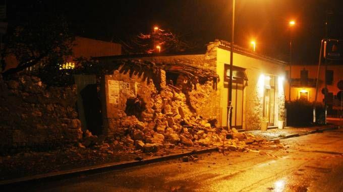 Terremoto a Visso, in provincia di Macerata (Lapresse)