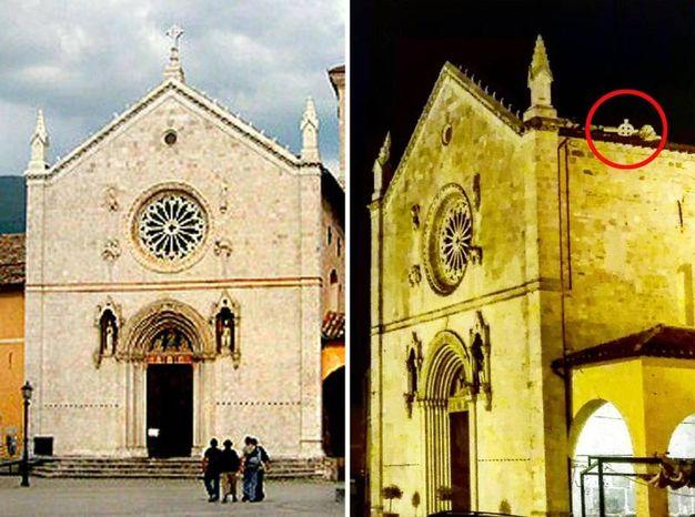 La chiesa di San Benedetto a Norcia (foto Ansa)