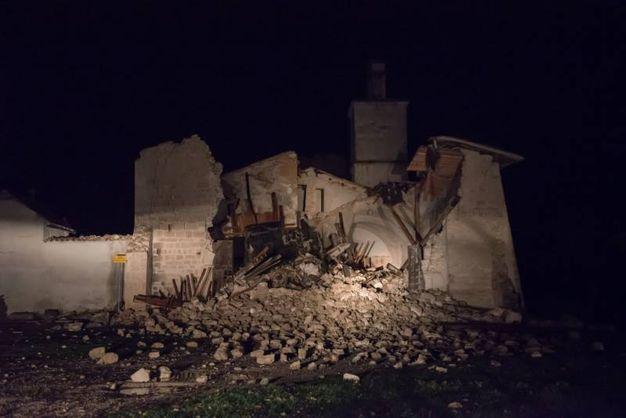 La chiesa di San Salvatore a Campi di Norcia (Lapresse)