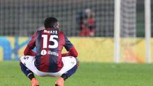 Mbaye dopo l'1-1 con il Chievo