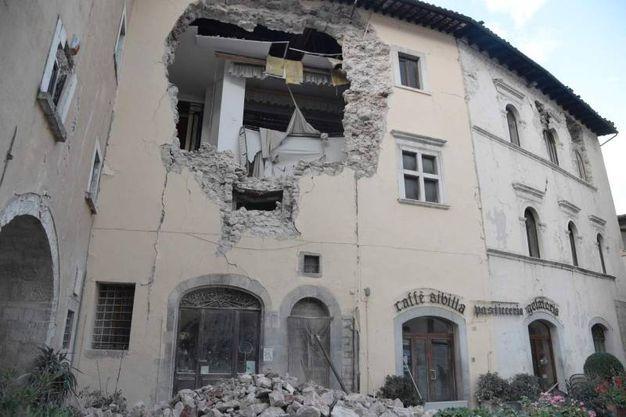dommages Tremblement de terre à Visso (AFP)