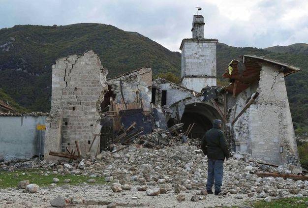 champs Norcia, l'église se sont effondrés (Lapresse)