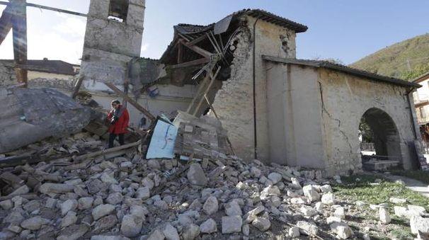 Tremblement de terre a détruit l'église de Saint-Antoine à Visso (Ansa)