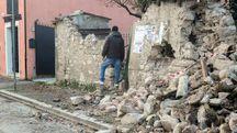 Terremoto a Visso (foto LaPresse)