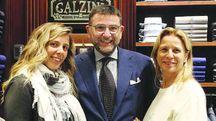 Nunzio Colella con la moglie e la figlia (New Press Photo)