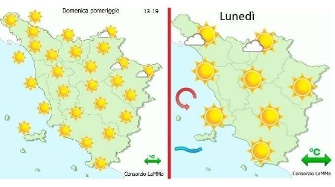 Le previsioni meteo del Lamma