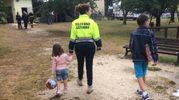 Il campo per i bambini allestito ad Amatrice dopo il terremoto (Ansa)