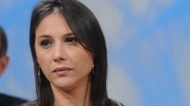 Dijana Pavlovic ospite a una trasmissione televisiva
