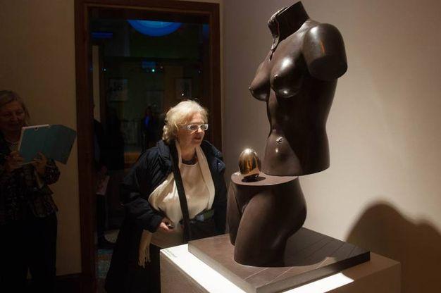 Una delle sculture esposte a Palazzo Belloni (foto Schicchi)