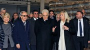 Il presidente Mattarella in visita alla sede della Roana (Calavita)