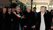 Il sindaco Marco Rinaldi parla con Mattarella (Calavita)