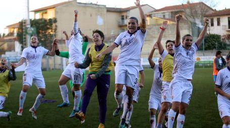 Fiorentina  Women's: l'esultanza dopo il 5-0 al Brescia (Tommaso Germogli)