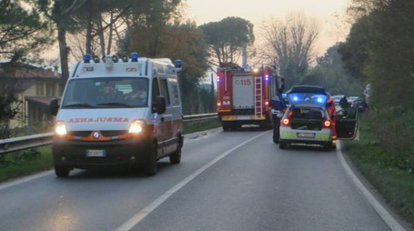 La strada dove è avvenuto l'incidente mortale (foto Veca)