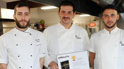 Marco Ranzani con gli chef Lucini e Salis