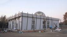 I lavori della nuova moschea (foto Frasca)