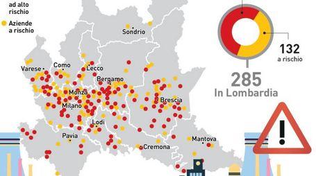 La geografia del rischio disastro industriale in Lombardia